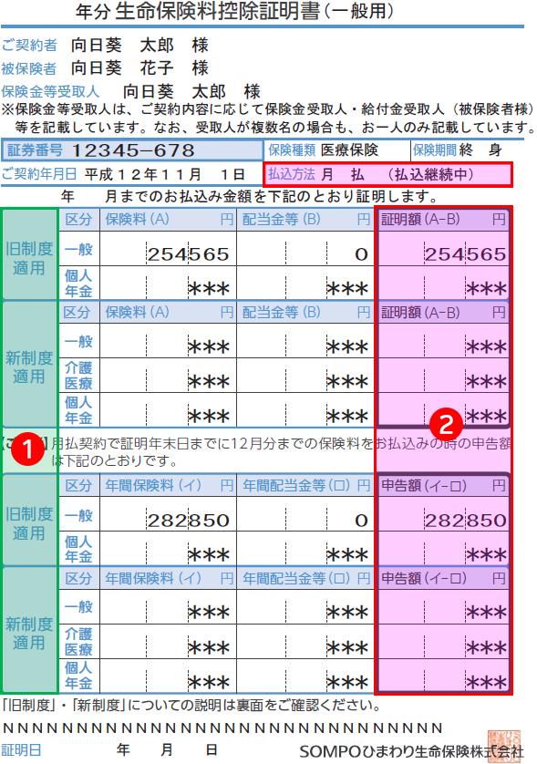 日本 生命 保険 料 控除 証明 書